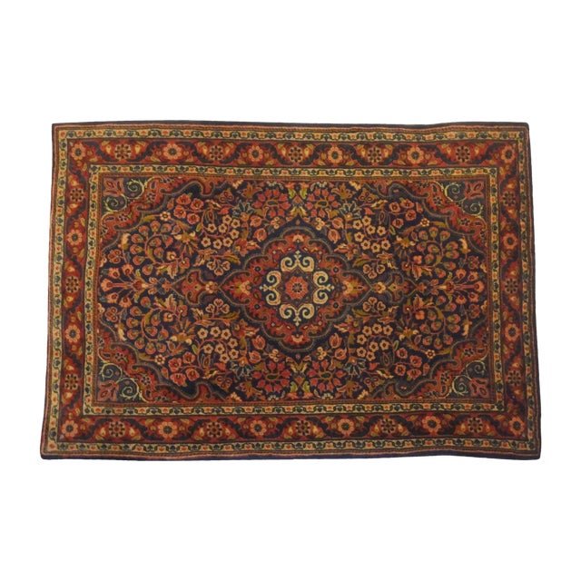 "Persian Sarouk Rug - 3'2"" x 2'3"" For Sale"