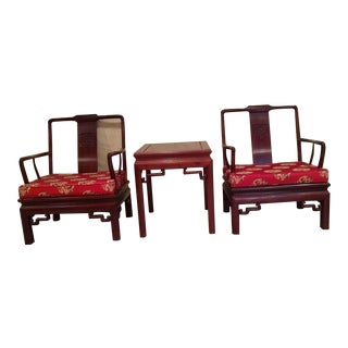 Vintage Rosewood Chairs With Matching Table - 3 Pieces For Sale
