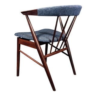 Rosewood Spindle-Back Armchair, Helge Sibast, Denmark 1950s For Sale