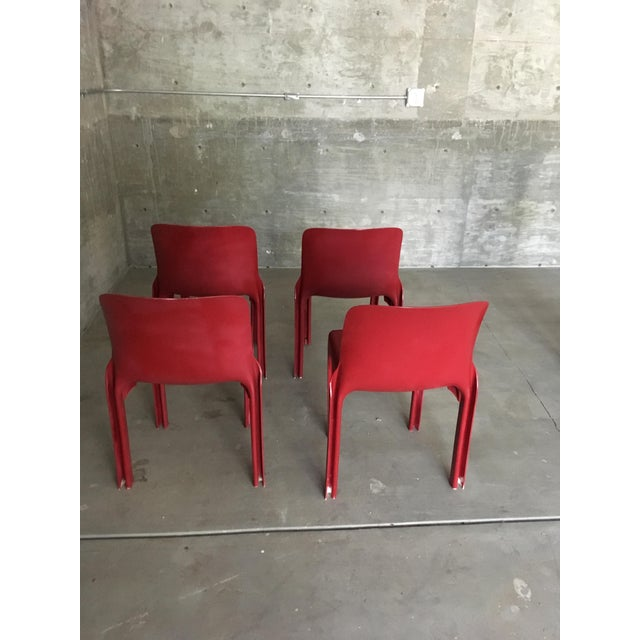 1980s 1980s Vintage Vico Magistretti Stacking Chairs- Set of 4 For Sale - Image 5 of 8