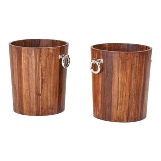 Rustic Modern Planters - A Pair