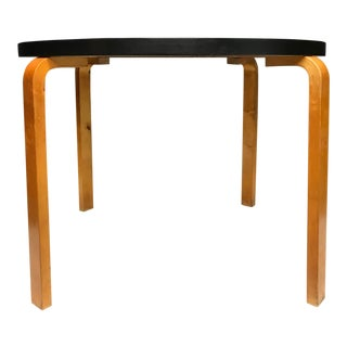 Mid Century Modern Alvar Aalto Round Table For Sale