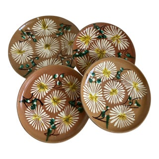 Vintage Mexican Pottery Plates, Set of 4