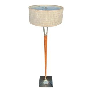 Gerald Thurston for Laurel Lamp Co. Mid-Century Modern Wishbone Floor Lamp