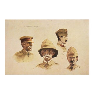 "1901 Mortimer Menpes ""Lord Roberts and Stuff"", Safari Style Original Lithograph For Sale"