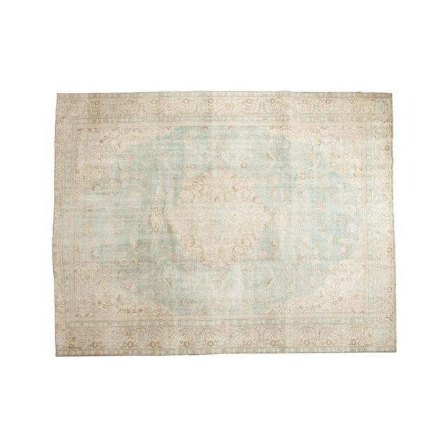 "Vintage Distressed Sivas Carpet - 8'7"" X 11'1"" For Sale - Image 11 of 12"
