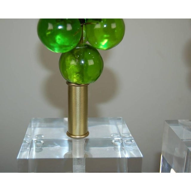 Vintage Bubble Table Lamps by Silvano Pantani, 1966 Lime Green For Sale In Little Rock - Image 6 of 10