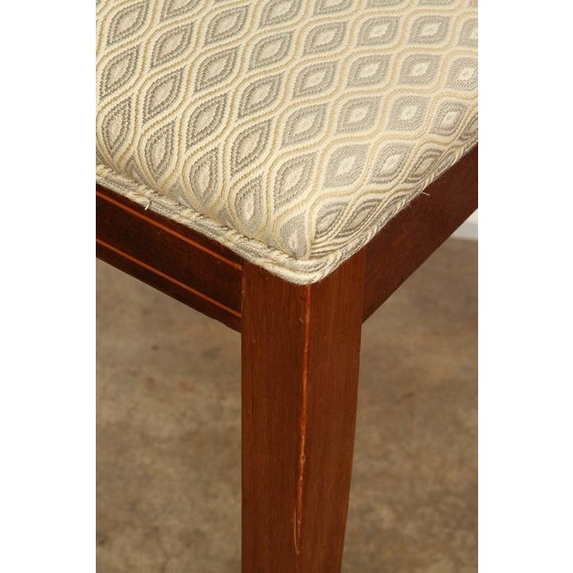 Biedermeier Pair of 19th Century Danish Inlaid Mahogany Chairs For Sale - Image 3 of 8