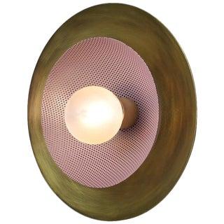Blueprint Lighting Solid Brass & Lilac Enamel Mesh Sconce For Sale