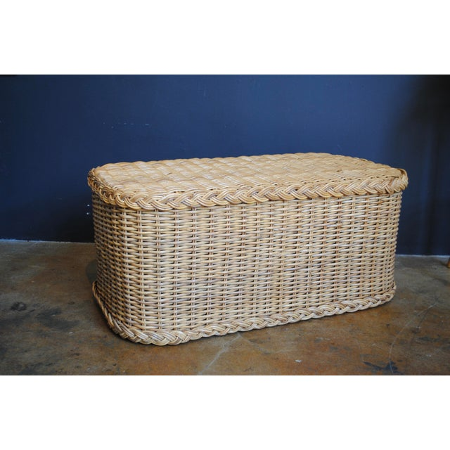 Vintage Rattan Coffee Table / Bench - Image 2 of 6