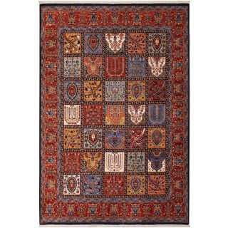 Contemporary Rustic Tribal Kafkaz Zeigler Roseanne Wool Rug - 8′2″ × 9′9″ For Sale
