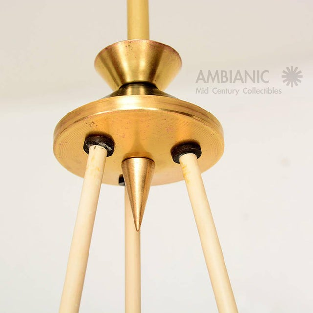 1950s Mid-Century Modern Italian Chandelier With Three Arms For Sale - Image 5 of 10
