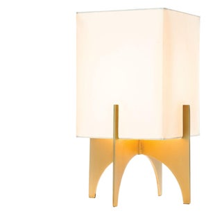 Small Modern Brass Thick Accent Lamp