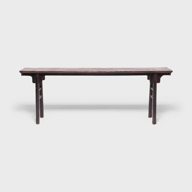 18th Century Chinese Ming Form Elm Console Table For Sale - Image 4 of 7