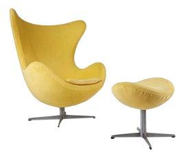 Image of Study Chair and Ottoman Sets