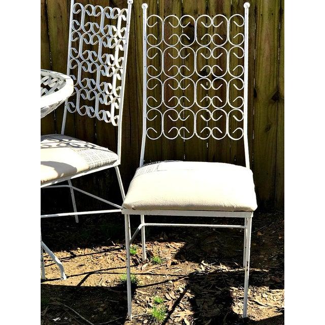 Mid century modern fabulous Salterini style indoor/outdoor dining/patio set. Very heavy solid Metal. Great summer project:...