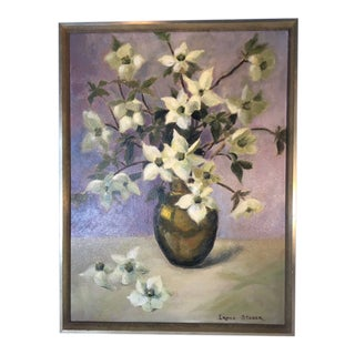Vintage Floral Still Life Painting by Irene Stager For Sale