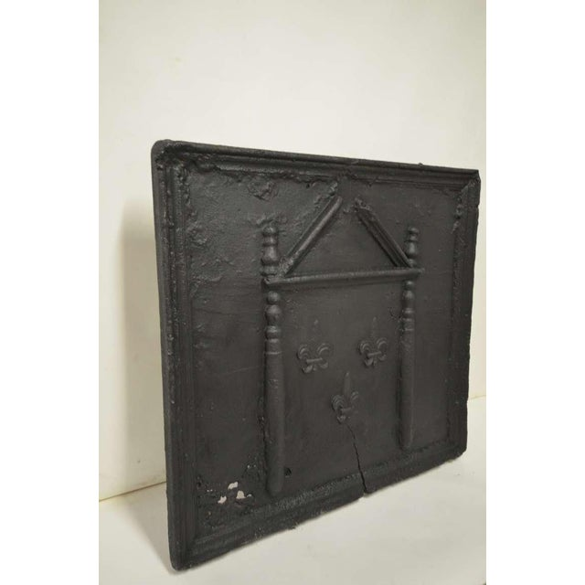 18th C. French Large Square Fireback For Sale - Image 6 of 9
