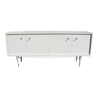 Classic French Art Deco Mother-of-Pearl Finish Sideboard / Buffet 1940s Vintage