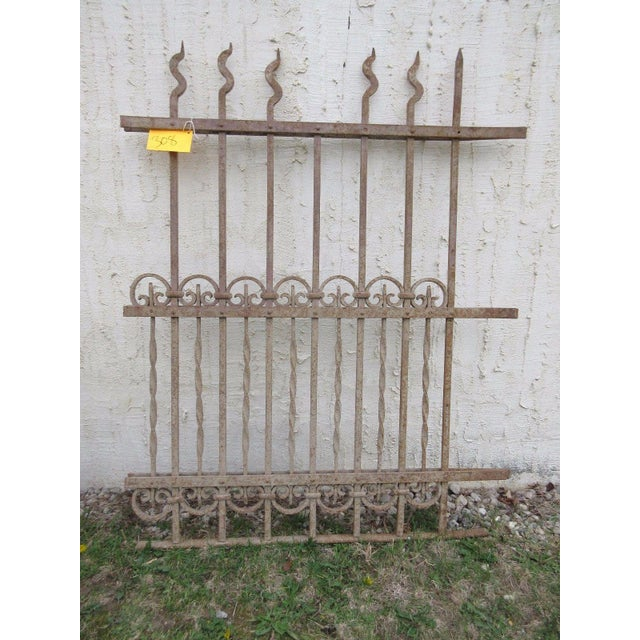 Antique Victorian Iron Gate Window Garden Fence For Sale In Philadelphia - Image 6 of 7