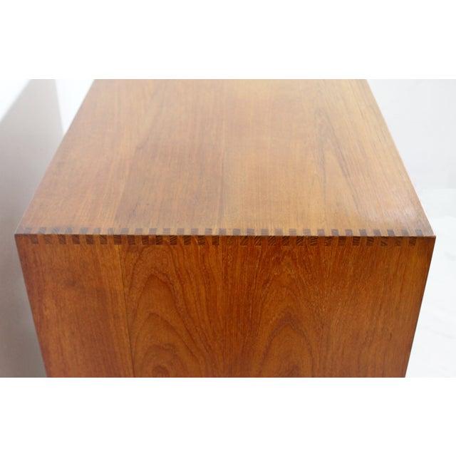 1950s Mid-Century Danish Modern Peter Hvidt Teak Vanity Dresser Cabinet For Sale - Image 9 of 13