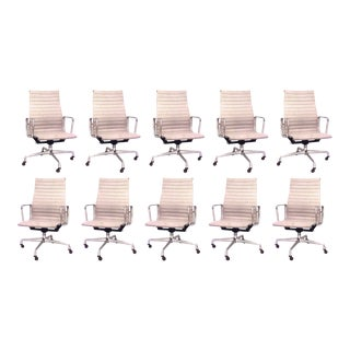American Post-War Swivel Conference Chairs - Set of 10 For Sale