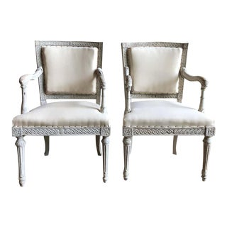 Italian Neoclassic Armchairs - a Pair For Sale