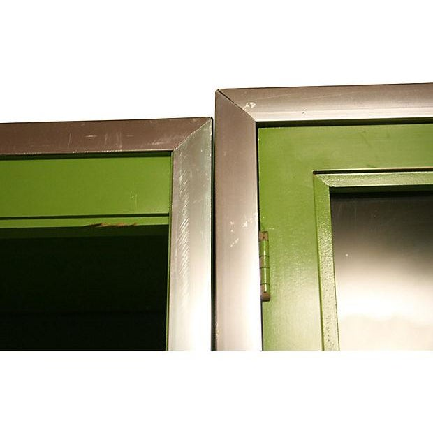 Green Thomasville Fretwork Cabinets - Set of 3 - Image 5 of 7