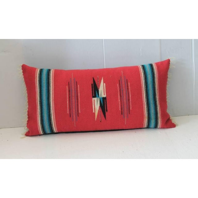 This vibrant red ground Mexican or American Indian weaving has bold colors and in great condition. The backing is in a...