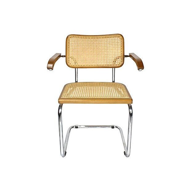 Marcel Breuer-Style Cesca Dining Chairs- Set of 4 | Chairish