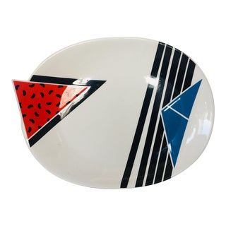 1980s Memphis Style Kato Kogei Ceramic Platter For Sale