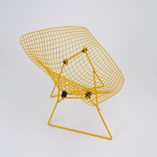 Yellow Rocking Diamond Chair by Harry Bertoia For Sale - Image 8 of 12