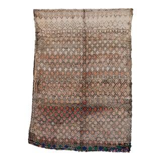 "Boujad Vintage Moroccan Rug, 5'10"" X 8'6"" For Sale"