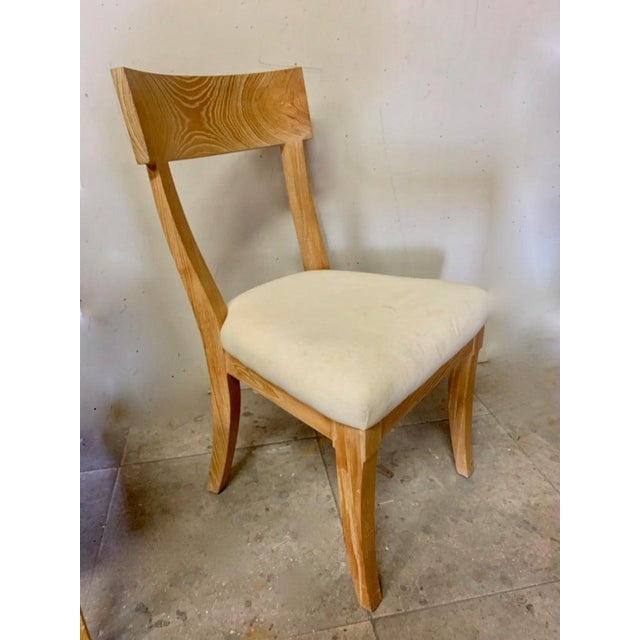 Set of Four Cerused Oak Dining Chairs For Sale In Los Angeles - Image 6 of 7