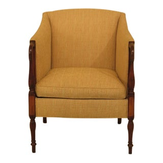 Hickory Chair Co. Sheraton Mahogany Upholstered Club Chair