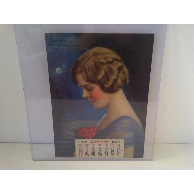 "Vintage advertising calendar ""Memories Bring Thoughts,"" January 1935 ""Salesman's Copy"" -- RARE Vintage but very good..."