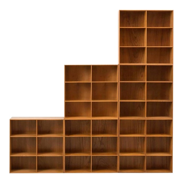 Set of Modular Elm Bookcases by Mogens Koch For Sale