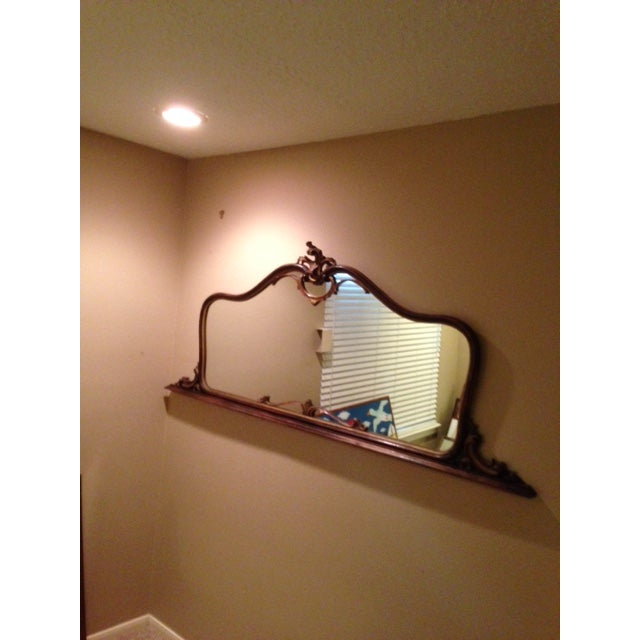 Antique Hand-Carved Wood Framed Mirror - Image 10 of 11
