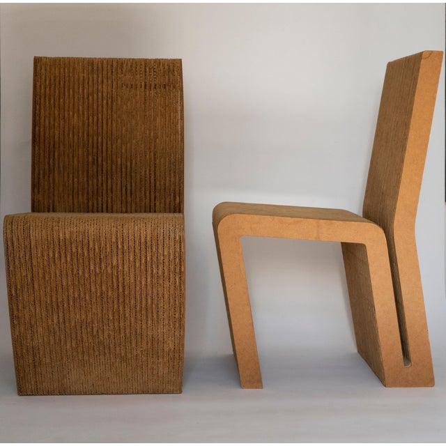 Mid-Century Modern Easy Edges Cardboard Chair by Frank Gehry, Early 1970s Model For Sale - Image 3 of 11