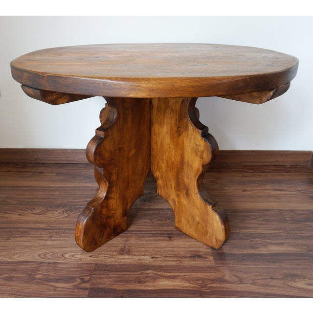 20th Century Rustic Round Coffee Table or Side Table - Image 2 of 7