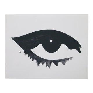 Black & White Open Eye Lithograph For Sale