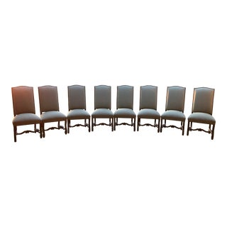 Set of 8 Kreiss Rousseau Side Dining Chairs / Slipper Chairs For Sale