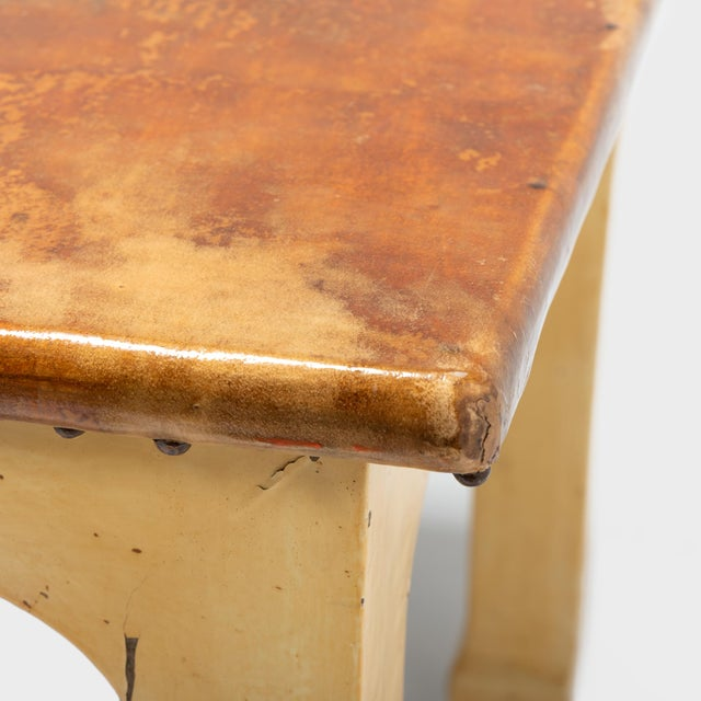Early 20th Century Chinese Hide Covered Artisan Table For Sale In Chicago - Image 6 of 7