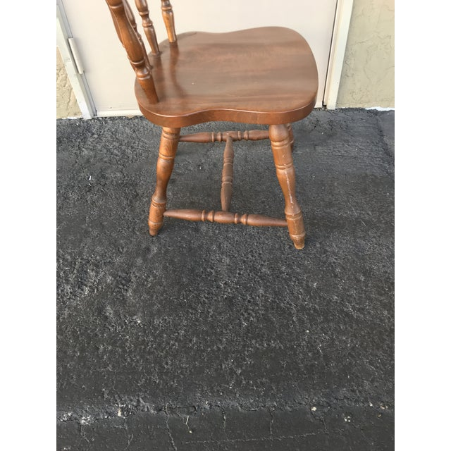 1950s Traditional Bistro Western Yugoslavia Windsor Chair For Sale In West Palm - Image 6 of 13
