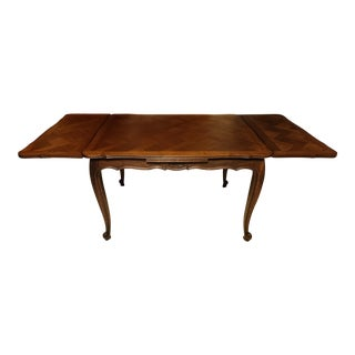 Antique French Louis XV Style Parquet Top Dining Table For Sale