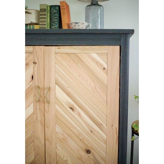 Antique Letterpress Cedar Cabinet - Image 3 of 11