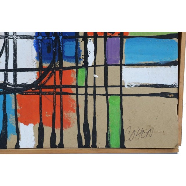 """Alvin M. Cohen Vintage """"Images In Colors"""" Painting For Sale - Image 4 of 7"""