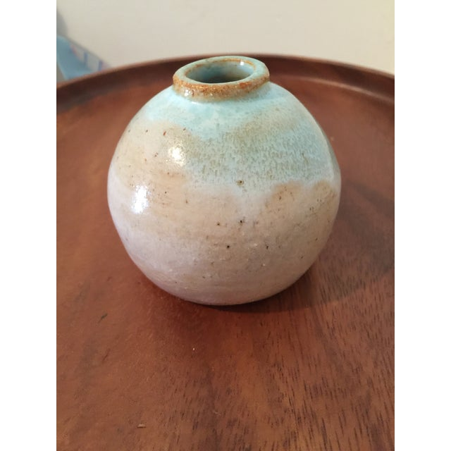 Vintage Turquoise Bud Vase, Marked - Image 3 of 5