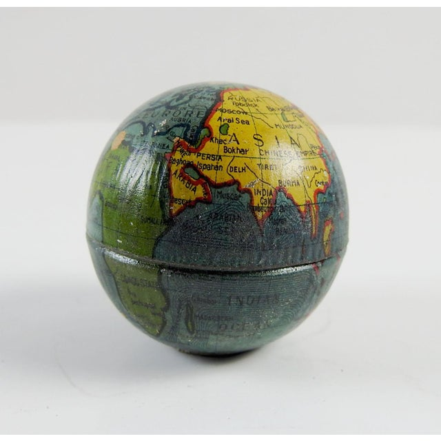 Vintage Tin Globe Pencil Sharpener For Sale - Image 4 of 4