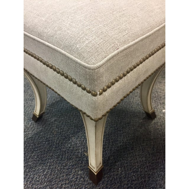 Beautiful traditional Stool is perfect for sitting on resting your feet on. Beautiful wooden curved legs adds a certain...